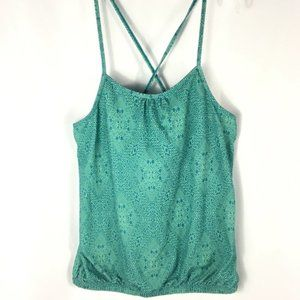 Prana Turquoise Patterned Tank